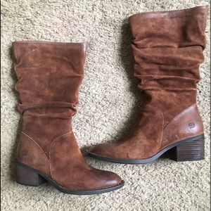 Born Brown Leather Western Boots